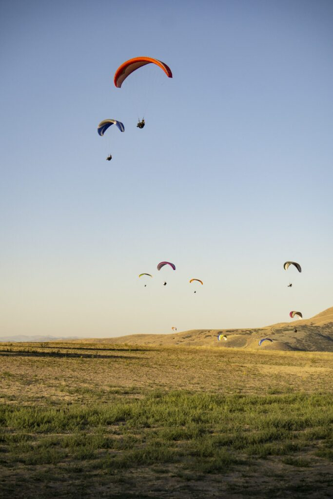 South Side morning paragliding