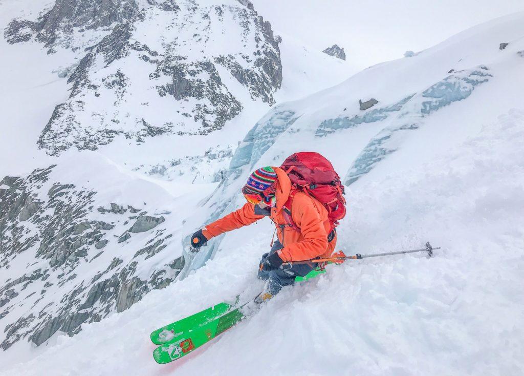 Ben White skiing