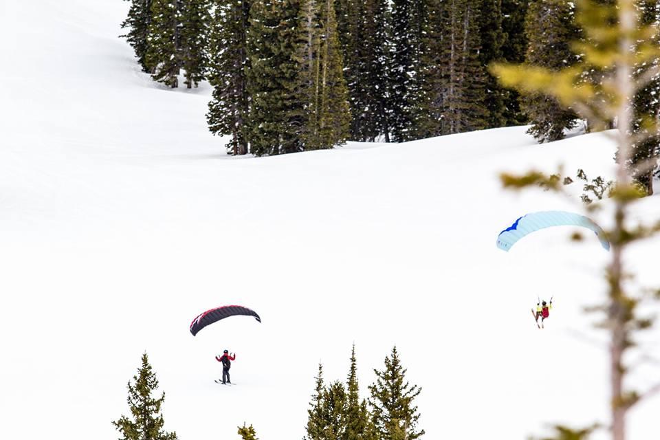 speedriding ski launching paragliding
