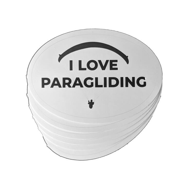I Love Paragliding Sticker